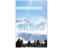 I'd Rather Be Skiing | Editorial Illustration