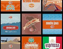 The Coffee Beanery - Bag Labels for Rebranding.