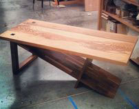 Ash and Walnut Coffee Table - Furniture Design