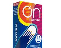 Caja Preservativos ON + Campaña Gráfica