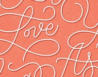 HOW LONG WILL I LOVE YOU | TYPOGRAPHY