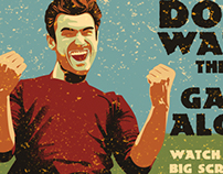 Vintage Poster for Live Sport Match