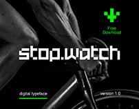 Stopwatch Free Typeface