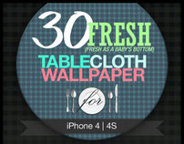 30 Fresh TableCloth Wallpaper for iPhone, 4, 4S