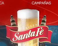 web : Cerveza Santa Fe website