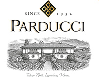 Parducci Wine Cellars Label Illustrated by Steven Noble