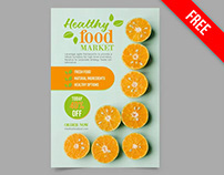 Free Food Poster PSD Template
