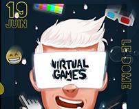 VIRTUAL GAMES - identité visuelle