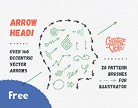 Arrow Head: Free Illustrator Brushes & Vectors