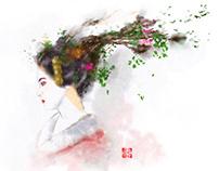 霞舞妓 Kasumi Maiko - Created in Adobe Project Gemini