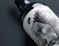 Collage wine label