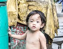 Street kids and slum areas