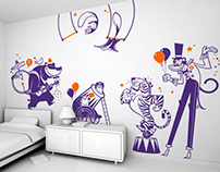 happy circus :: children's wall decals