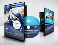 Graduation Ceremony DVD Cover and Label Template Vol.2