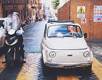 Fiat500 :: vintage Rome