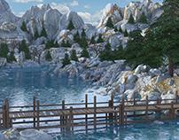 River Bridge Environment 3d