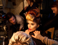 On set with Paloma Faith