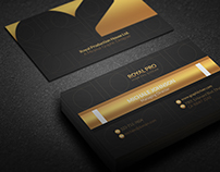 Free Golden Business Card