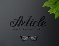 Article typescript
