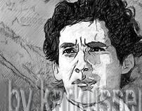 Dibujando a Ayrton Senna by karkussen