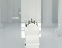 The mirror with chess
