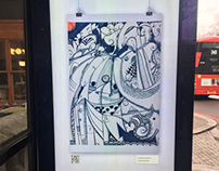 Illustration poster competition for the London bus stop