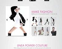 Web Design | Campaña Power Couture