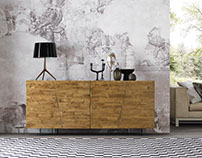 Solid Wood Sideboard from Italy