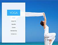 Yoga Single Page Multi-Purpose Free Adobe Muse Template