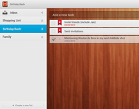 Wunderlist for Android Tablet