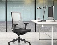 Emmegi office chairs rendering