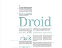Tipografía Droid Serif