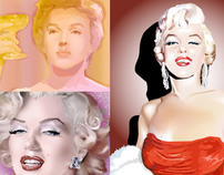 Marilyn Monroe Fan Art Digital Media - Set 1