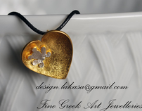 Fine Greek Art Jewelleries. E-commercial shop. Pentants