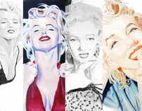 Marilyn Monroe Fan Art Traditional Media - Set 1