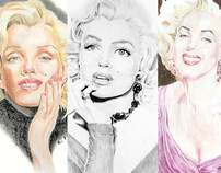 Marilyn Monroe Fan Art Traditional Media - Set 2