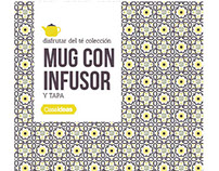 """Diseño packaging para línea """"Disfrutar del té colección"""