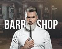 Barbershop landing page