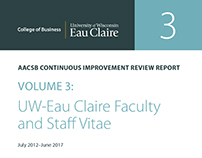 UW-Eau Claire College of Business AACSB Report Covers