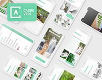 Redesign application Cadre vert