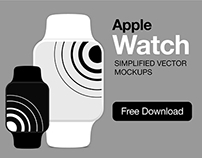 Apple Watch vector mockups [AI]