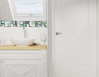 Łazienka w stylu angielskim - Kębłowice
