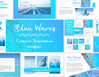 Blue Waves - Powerpoint Presentation Template
