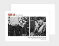 Christmas Card Template Modern Script