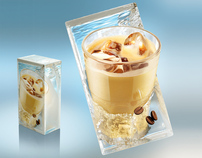 Digital illustration on Tetrapak package – Iced coffee