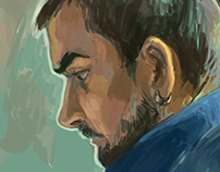 portrait colour sketch