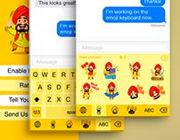 Emoji keyboard and corporative style for company