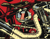 Motorcycles Illustrations