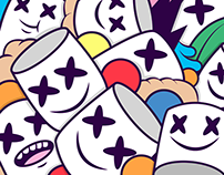 Marshmello illustration