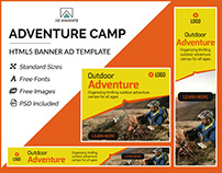 Adventure Camp Banner - HTML5 Ad Templates
